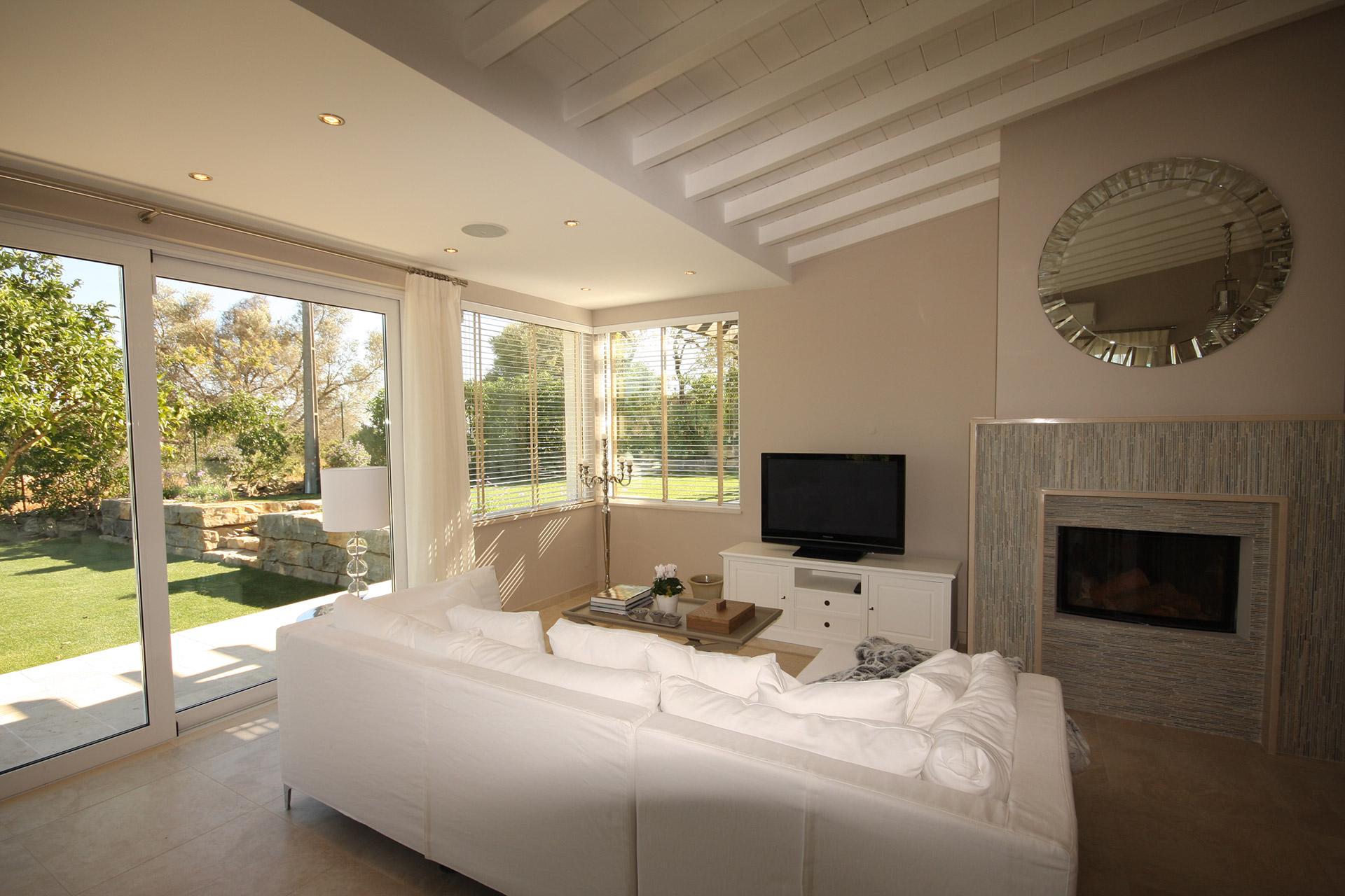 Fireplace area